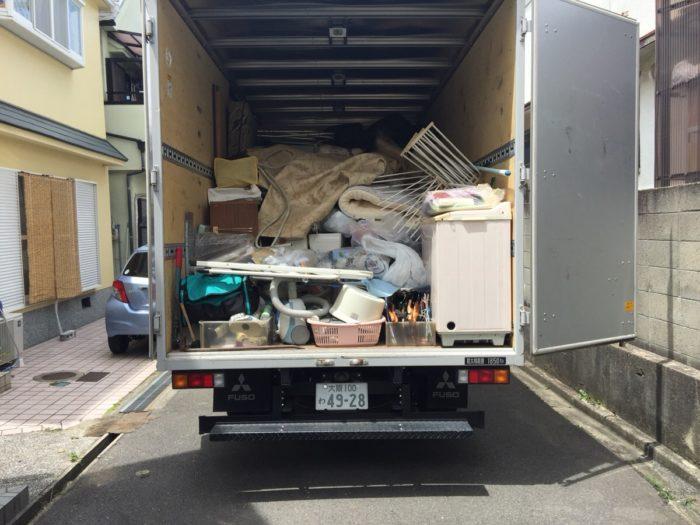 遺品整理後トラック